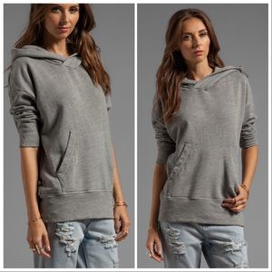 James Perse   Oversized Cotton Hoodie in Shadow
